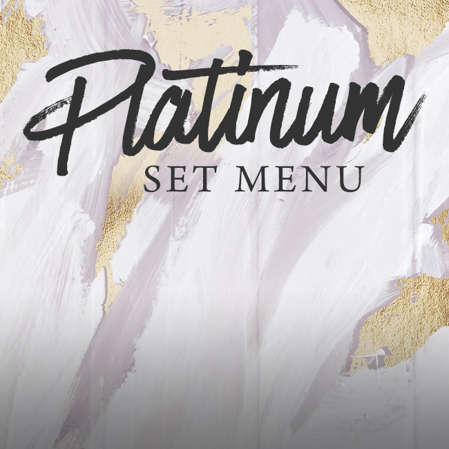 Platinum set menu at The Lyttelton Arms