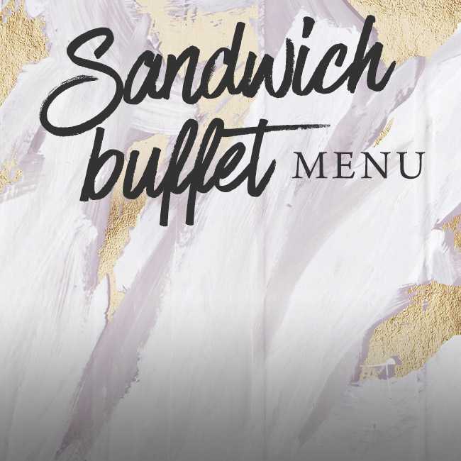 Sandwich buffet menu at The Lyttelton Arms