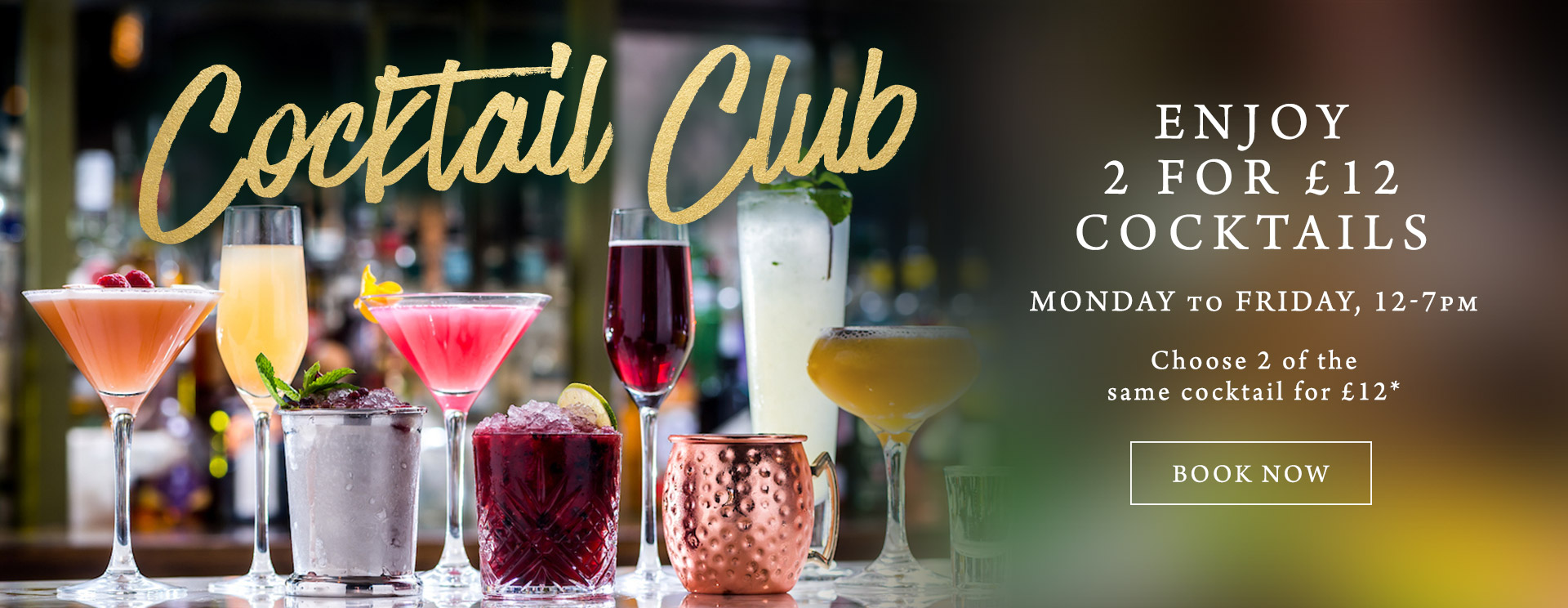 2 for £12 cocktails at The Lyttelton Arms
